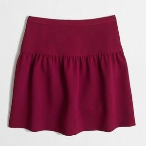 NWT J. Crew Factory Crepe Flounce Skirt